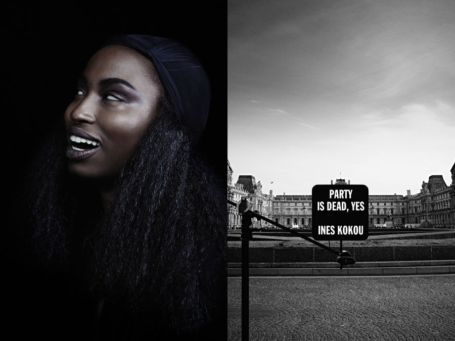 Ines Kokou - Paris Is Dead - by Rene Habermacher